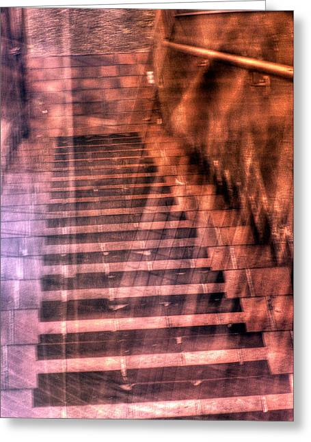 Stair-rail Greeting Cards - Up Down and Sideways Greeting Card by Paul W Sharpe Aka Wizard of Wonders