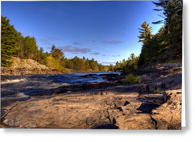 Thomas Young Photography Greeting Cards - Up River Greeting Card by Thomas Young