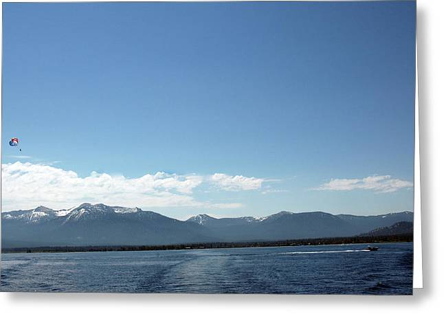 Travel Greeting Cards - Up Up and Away Lake Tahoe Greeting Card by LeeAnn McLaneGoetz McLaneGoetzStudioLLCcom