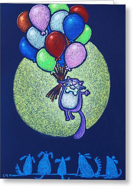 Storybook Pastels Greeting Cards - Up Up Greeting Card by wendy CHO