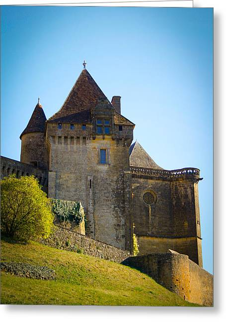 South Of France Greeting Cards - Upon a Hill - Biron Castle Greeting Card by Nomad Art And  Design
