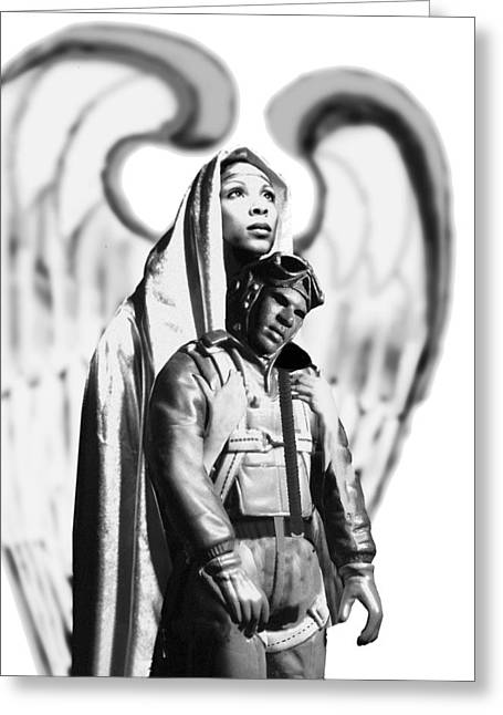 Tuskegee Airman Greeting Cards - Upon The Altar Of Freedom Greeting Card by Jerry Taliaferro
