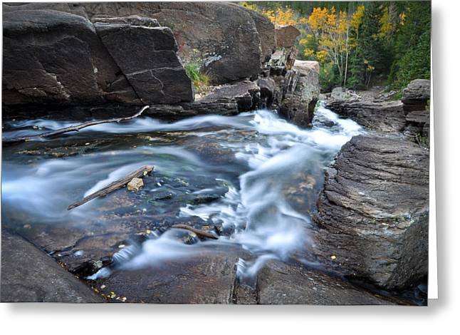 Alberta Water Falls Greeting Cards - Upper Alberta Falls Greeting Card by Kevin Munro