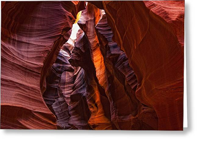 Without Lights Greeting Cards - Upper Antelope Canyon, Arizona Greeting Card by Robert Postma