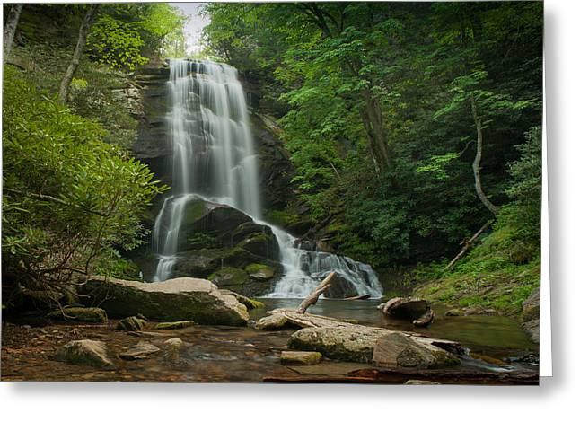 Fall Trees With Stream. Greeting Cards - Upper Catawba 2 Greeting Card by Joye Ardyn Durham