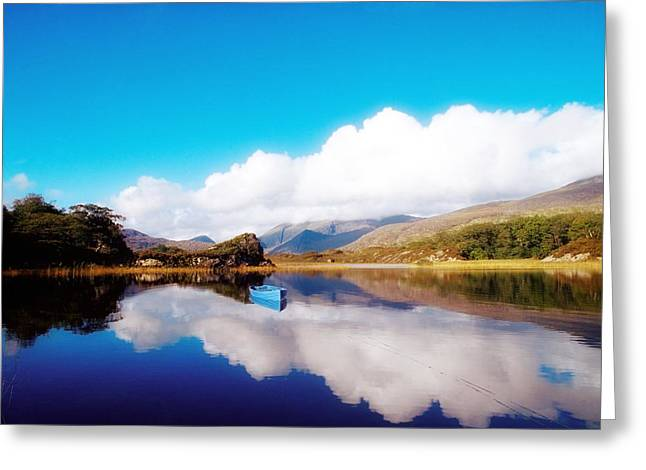 E Black Greeting Cards - Upper Lake, Macgillycuddy Reeks Greeting Card by The Irish Image Collection