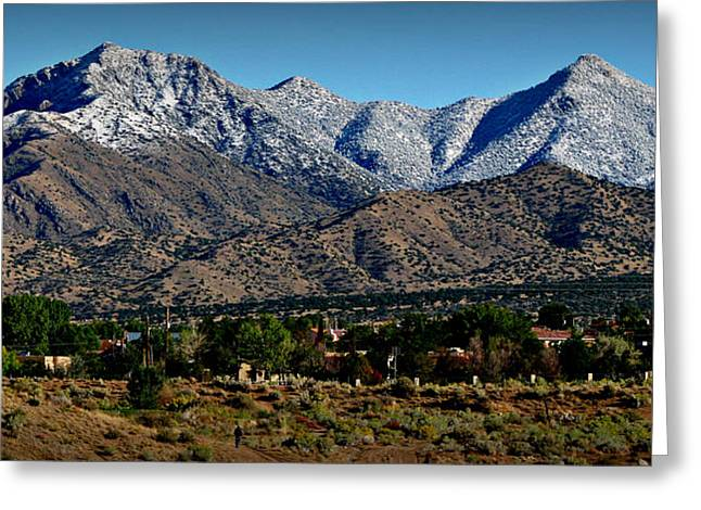 Rincon Greeting Cards - Upper Rincon Spur Snowfall Greeting Card by Aaron Burrows