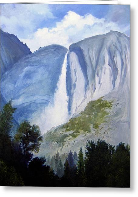 Robert Duvall Greeting Cards - Upper Yosemite Falls Greeting Card by Robert Duvall