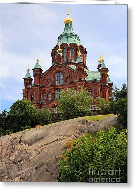 Helsinki Finland Greeting Cards - Upsenski Cathedral Greeting Card by Sophie Vigneault