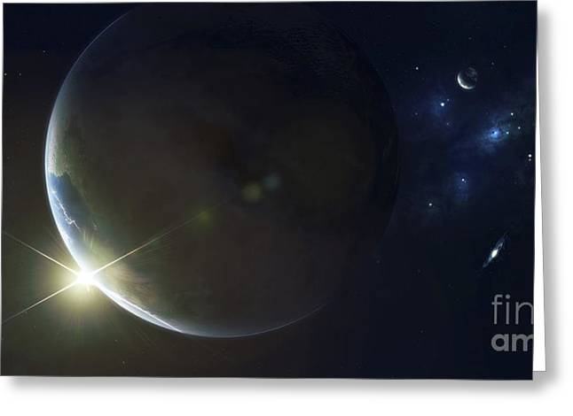 Twinkle Greeting Cards - Upsilon Is Another Sun Like Our Own Greeting Card by Kevin Lafin