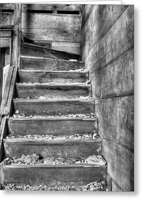 Abandonment Greeting Cards - Upstairs  Greeting Card by JC Findley