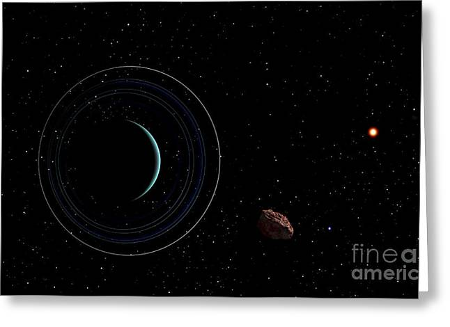 Ring Systems Greeting Cards - Uranus And Most Of Its Nine Major Rings Greeting Card by Frank Hettick