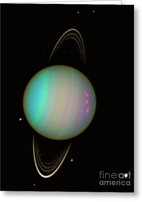 Uranus Greeting Card by Science Source