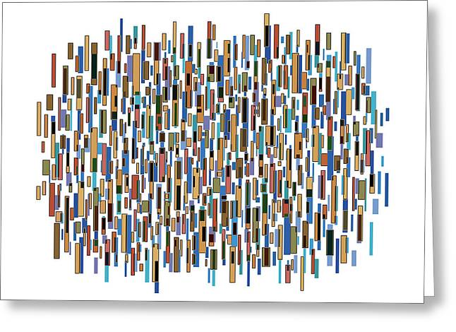 Geometrical Art Drawings Greeting Cards - Urban Abstract Greeting Card by Frank Tschakert