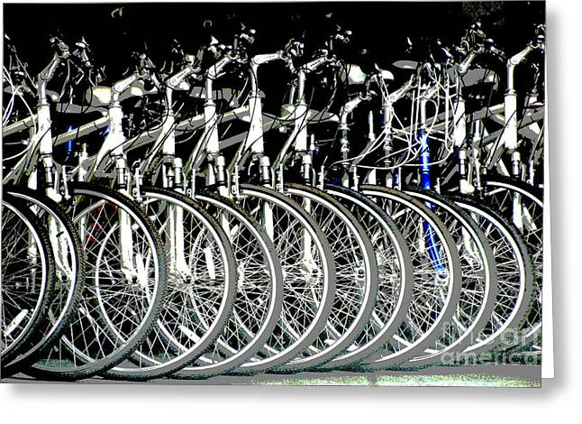 Urban bicycle Print Greeting Card by Anahi DeCanio