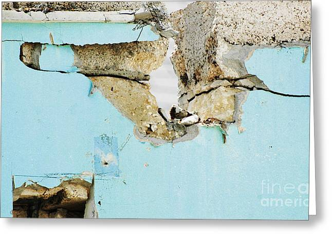 Patina Digital Art Greeting Cards - Urban Blue Fragments Greeting Card by AdSpice Studios