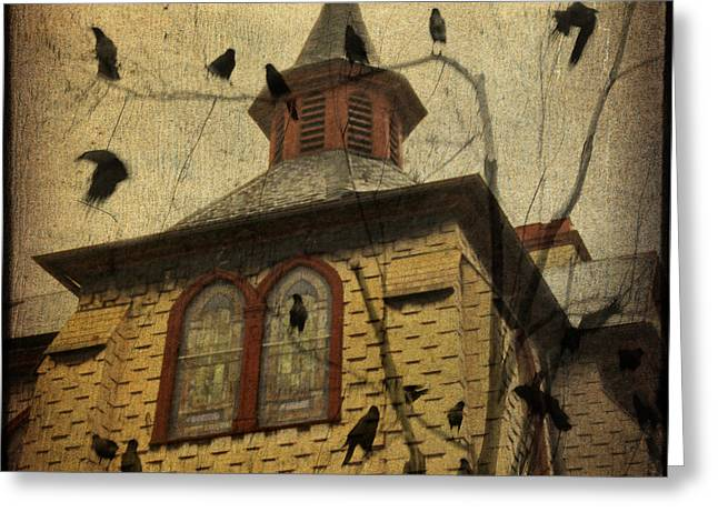 American Crow Greeting Cards - Urban Crows Greeting Card by Gothicolors Donna Snyder