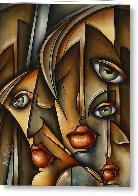 Urban Expression Greeting Card by Michael Lang