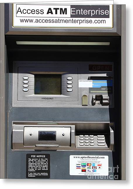 Automated Greeting Cards - Urban Fabric . Automatic Teller Machine . 7D14178 Greeting Card by Wingsdomain Art and Photography