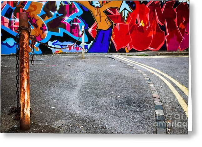 Urban City Areas Greeting Cards - Urban graffiti Greeting Card by Richard Thomas