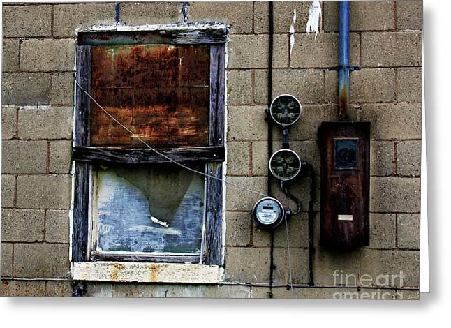 Electrical Meter Greeting Cards - Urban Gritty Greeting Card by Perry Webster