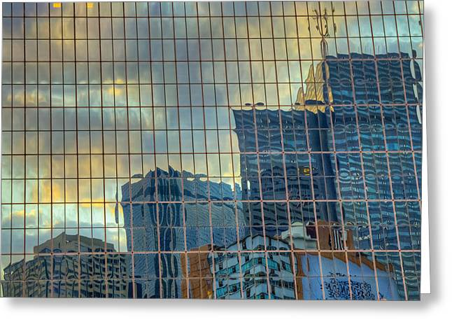 Urban Reflections Greeting Card by Drew Castelhano