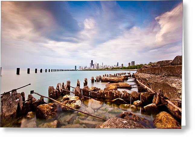Chicago Landscape Greeting Cards - Urban Renewal Greeting Card by Daniel Chen