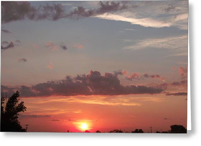 Urban Sunset Life Greeting Card by Brian  Maloney