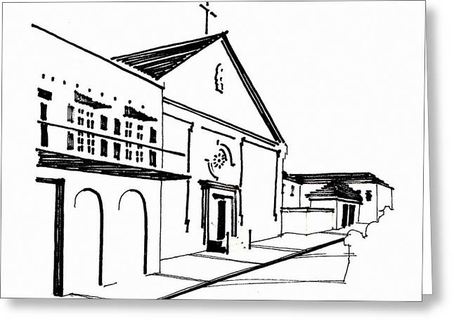 Street Jewelry Greeting Cards - Ursuline Convent Greeting Card by Rich Brumfield