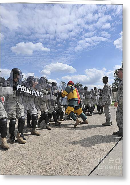 Military Police Greeting Cards - U.s. Air Force 86th Security Forces Greeting Card by Stocktrek Images