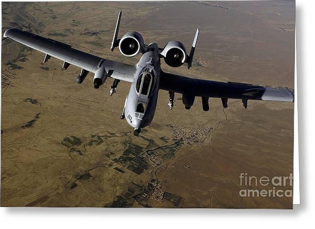 Middle Ground Greeting Cards - U.s. Air Force A-10 Thunderbolt Greeting Card by Stocktrek Images