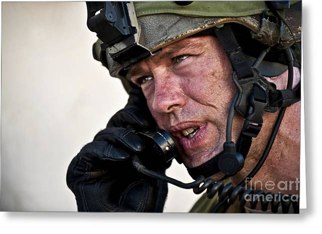 U.s. Air Force Sergeant Calls Greeting Card by Stocktrek Images
