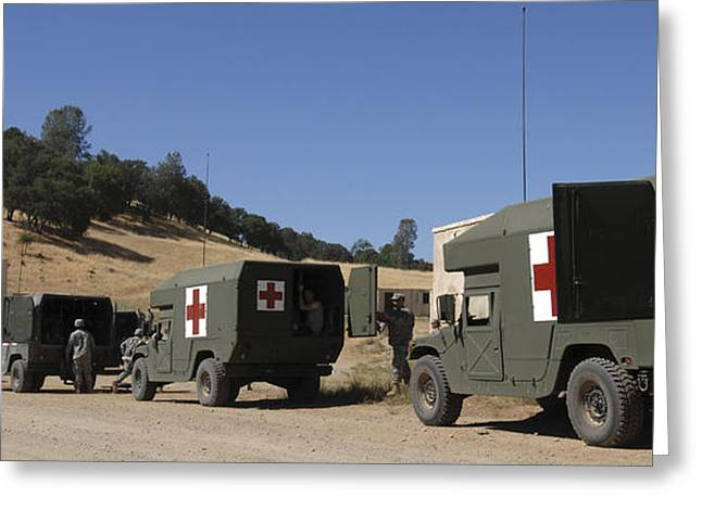 Medical Greeting Cards - U.s. Army Ambulance Units Participate Greeting Card by Stocktrek Images