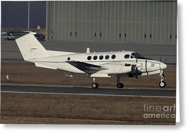 Jet Greeting Cards - U.s. Army C-12 Huron Liaison Aircraft Greeting Card by Timm Ziegenthaler