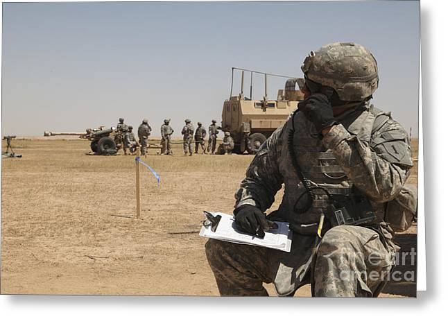 On The Phone Greeting Cards - U.s. Army Radio Operator Communicates Greeting Card by Stocktrek Images