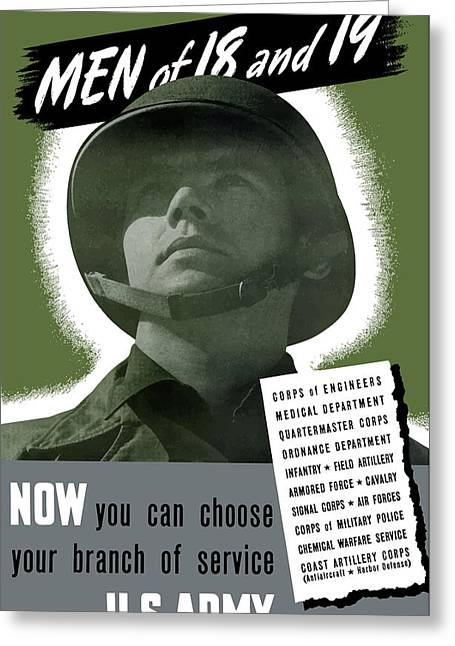 Army Recruiting Greeting Cards - US Army Recruiting Poster Greeting Card by War Is Hell Store