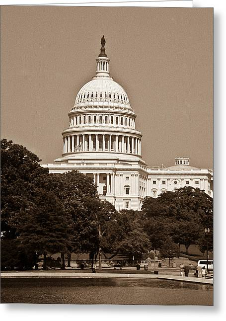 Us Senate Greeting Cards - US Capitol 1 Greeting Card by Douglas Barnett