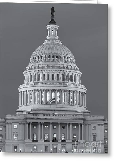 D.w Greeting Cards - US Capitol Building V Greeting Card by Clarence Holmes