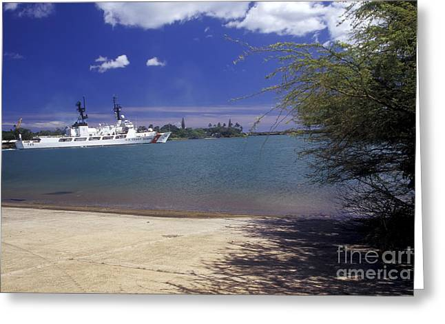 Hamilton-class Greeting Cards - U.s. Coast Guard Cutter Jarvis Transits Greeting Card by Michael Wood