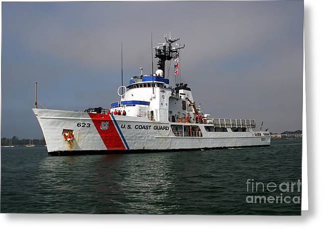 Law Enforcement Greeting Cards - U.s. Coast Guard Cutter Steadfast Greeting Card by Michael Wood