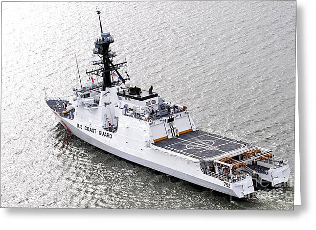 Us Coast Guard Greeting Cards - U.s. Coast Guard Cutter Stratton Greeting Card by Stocktrek Images