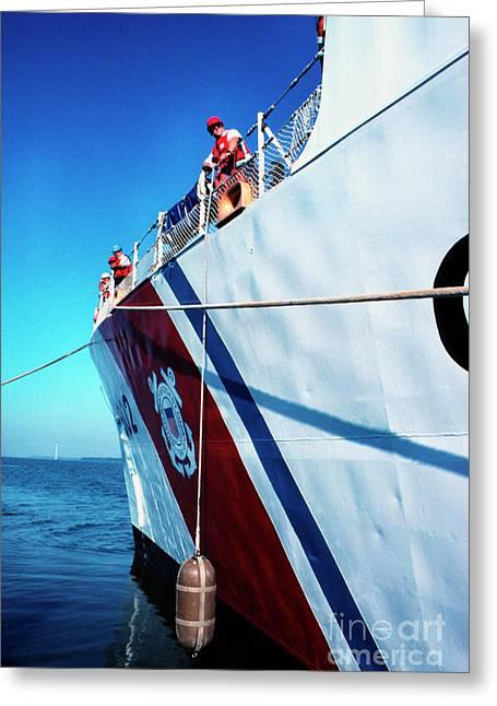 1987 Greeting Cards - US Coast Guard  Greeting Card by Thomas R Fletcher