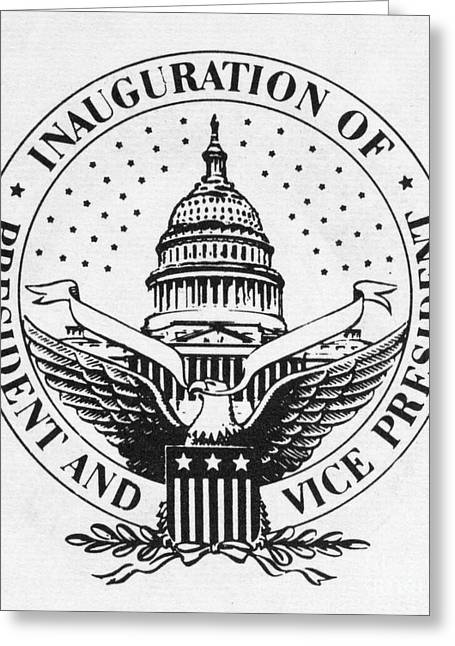 Inauguration Greeting Cards - U.s. Inaugural Seal Greeting Card by Granger
