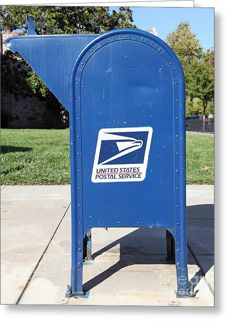 Postal Greeting Cards - US Mail Box . 5D18813 Greeting Card by Wingsdomain Art and Photography