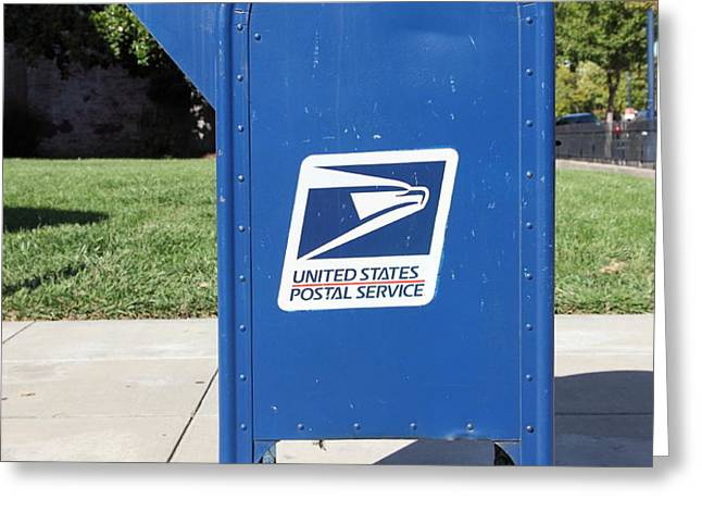 US Mail Box . 5D18813 Greeting Card by Wingsdomain Art and Photography