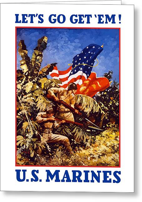 Vets Greeting Cards - US Marines Greeting Card by War Is Hell Store