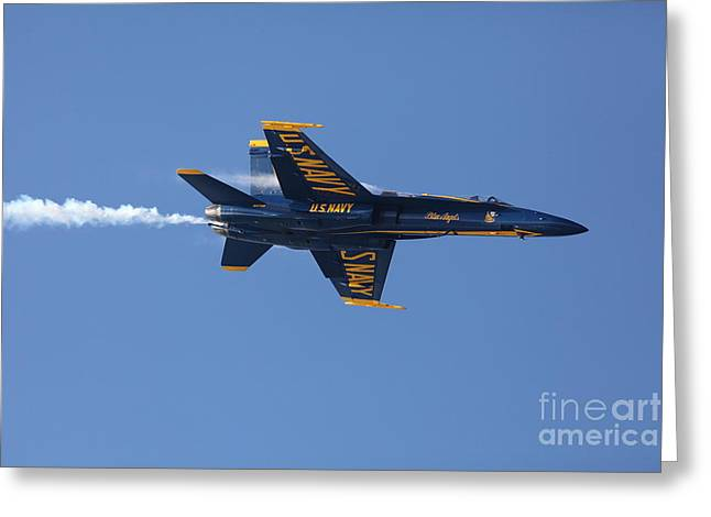 Military Airplanes Greeting Cards - US Navy Blue Angels - 5D18983 Greeting Card by Wingsdomain Art and Photography