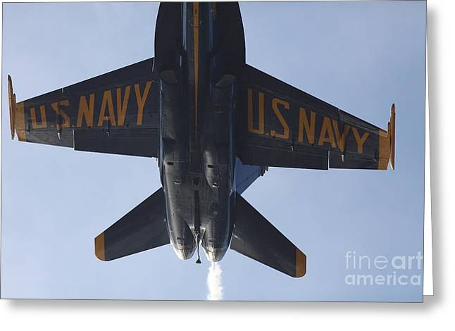Air Craft Greeting Cards - US Navy Blue Angels - 5D18994 Greeting Card by Wingsdomain Art and Photography