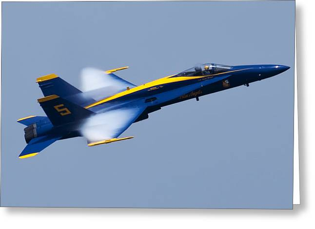 US Navy Blue Angels High Speed Pass Greeting Card by Dustin K Ryan