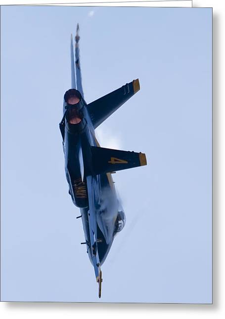 F-18 Greeting Cards - US Navy Blue Angels High Speed Turn Greeting Card by Dustin K Ryan
